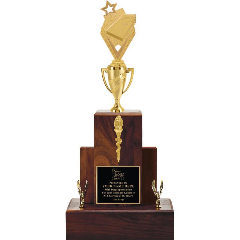 """24"""" WALNUT TROPHY/GOLD CUP"""