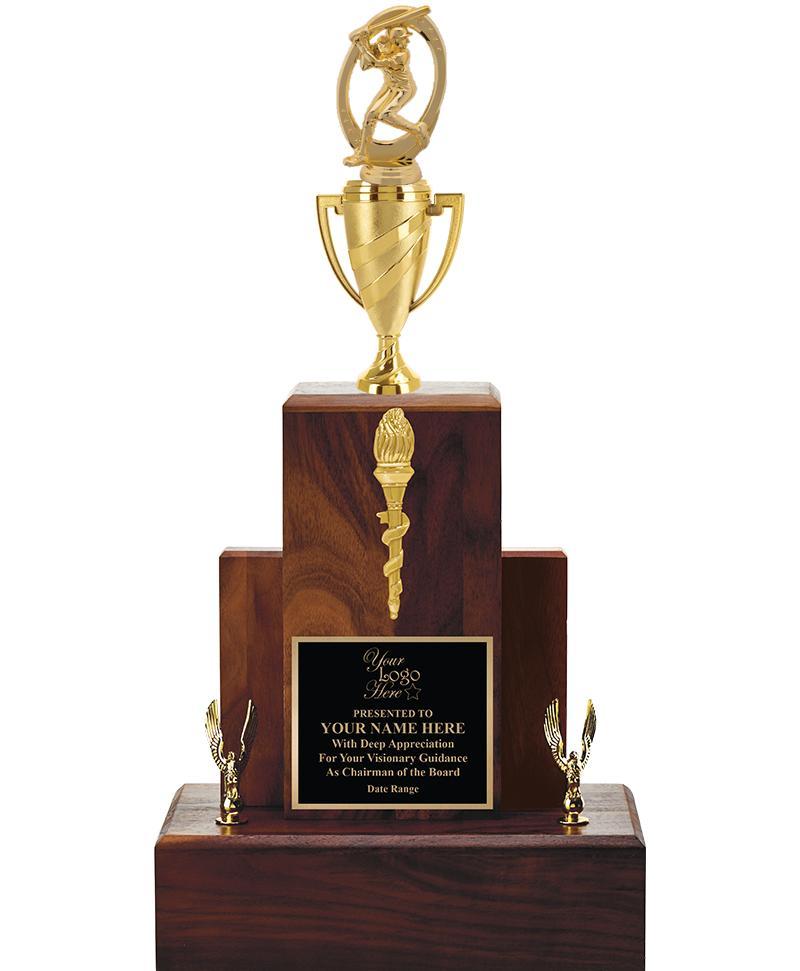 """20"""" WALNUT TROPHY/GOLD CUP"""
