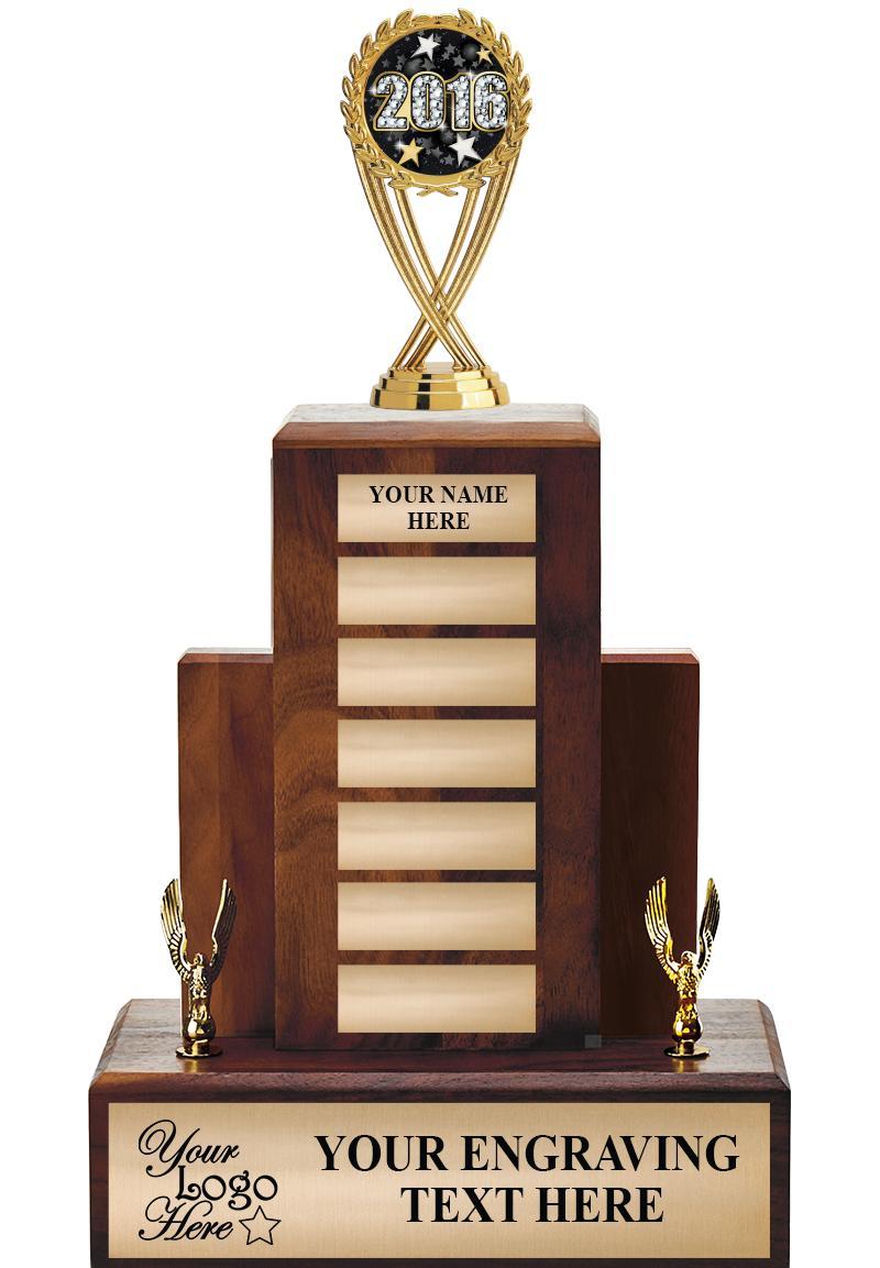 Walnut Perpetual Trophy With Trim