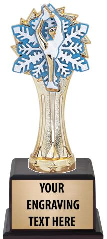 "7 1/2"" Trophy on Wood Base"