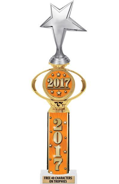 """16"""" 2017 Ultra Oval Insert Trophy"""