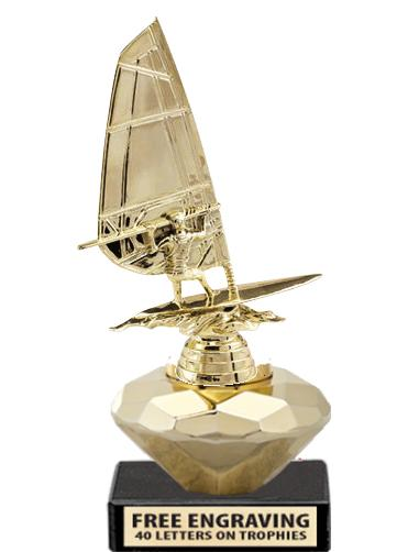 "7"" GOLD CRYSTALLINE TROPHY"