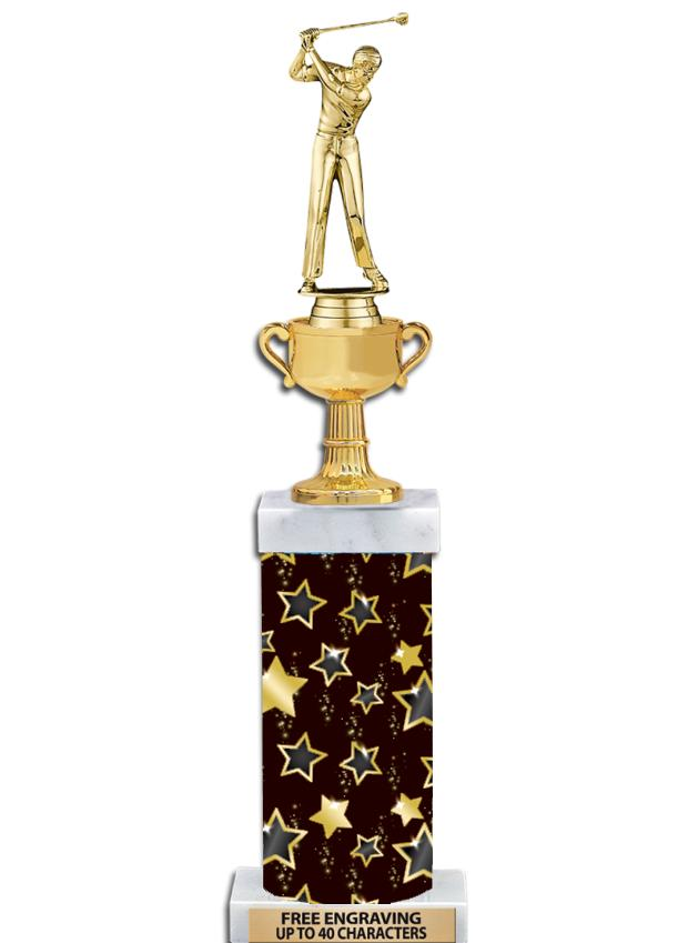 Gold Cup Riser Deluxe Column Trophies