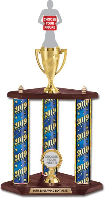 3 Poster Riser Trophies
