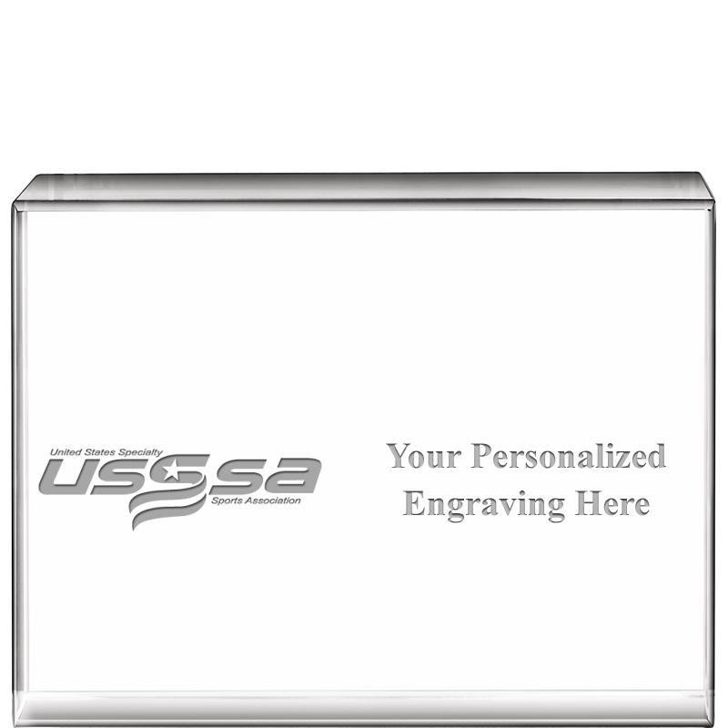 USSSA Volleyball Horizontal Display Crystals