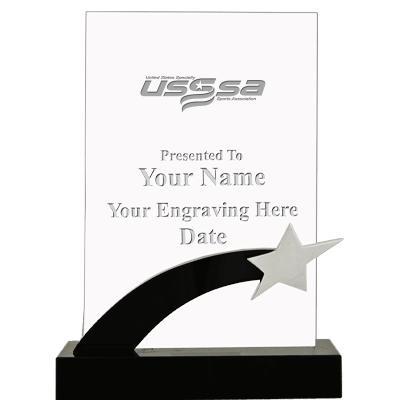 USSSA Taekwondo Black Rocket Star Crystal