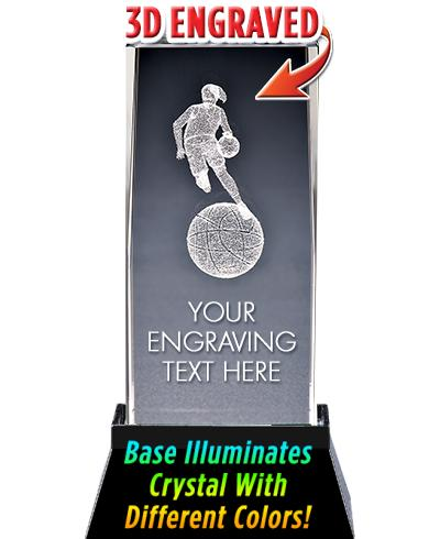 USSSA Laser Cut Basketball Female Crystal With Light Up Base