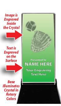 USSSA Laser Crystal Baseball Glove W/ Light Up Base