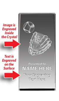 USSSA Laser Crystal Baseball Glove W/ Light Up Base