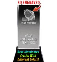 USSSA Football Laser Cut Crystal