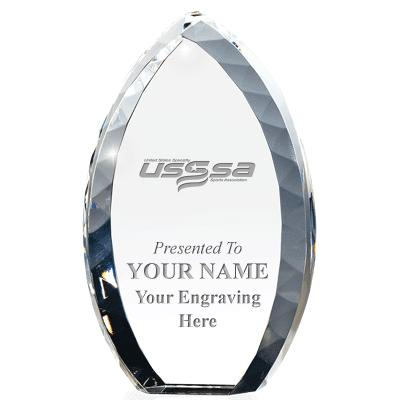 USSSA Volleyball Tear Drop Crystal Award