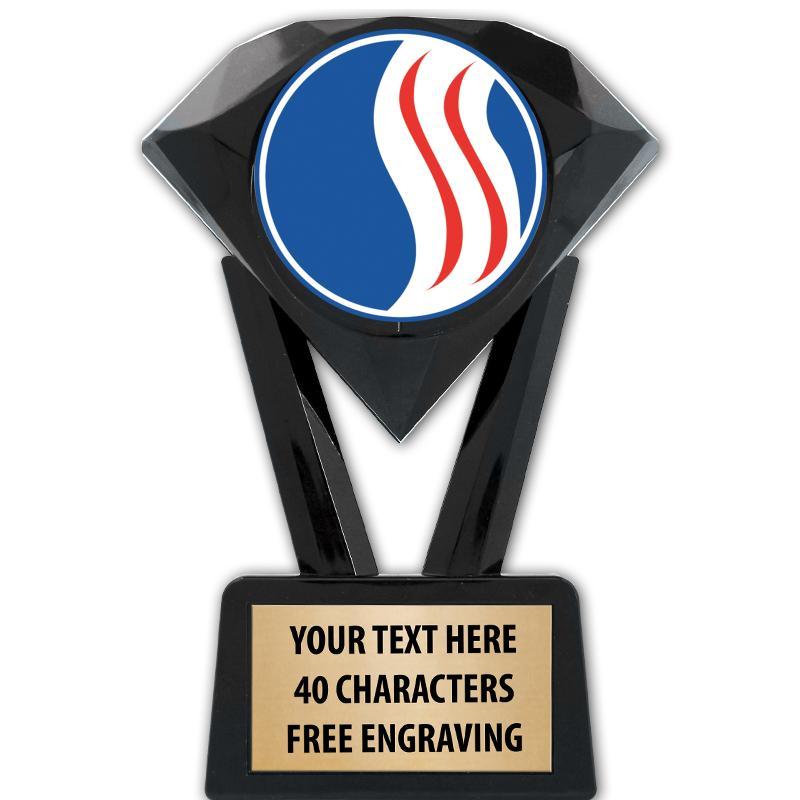 "5 3/4"" USSSA Black Diamond Icicle Trophy"