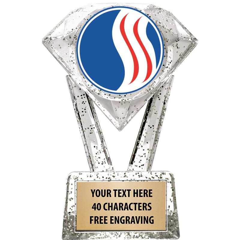 "5 3/4"" USSSA Glitter Diamond Icicle Trophy"