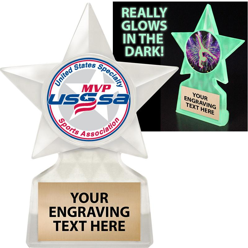 """5 3/4"""" USSSA Glow In The Dark Icicle Trophy"""