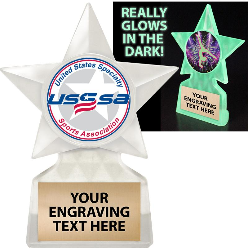 "5 3/4"" USSSA Glow In The Dark Icicle Trophy"