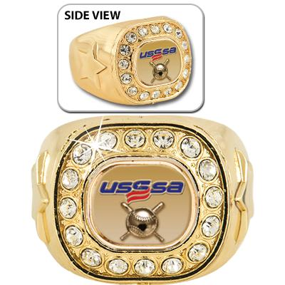 USSSA-CRYSTAL RING SIZE 6