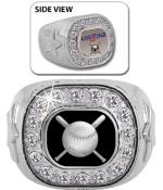 USSSA Silver Crystal Rings