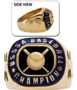 USSSA Bezel Gold Championship Rings