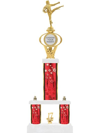 """24""""RED/GD-STARS-2 TIER OVAL"""