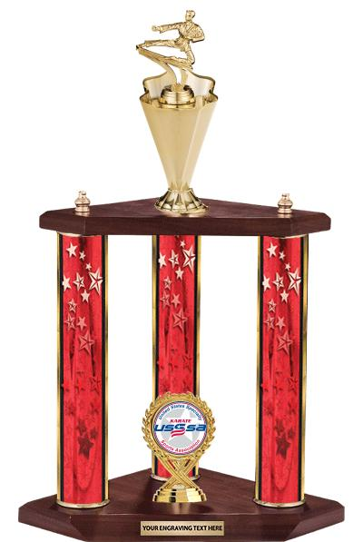 3 Poster USSSA Cup Trophies