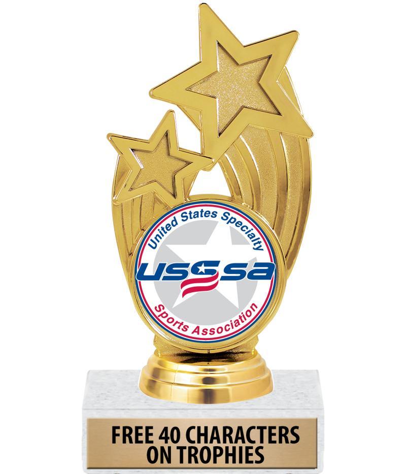 "6 1/4"" USSSA Glory Insert Trophies"