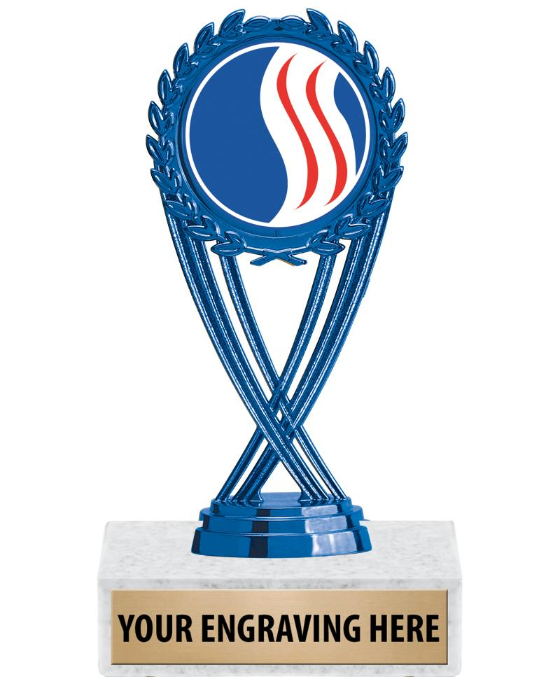 "6 1/4"" USSSA Blue Olympia Trophy"