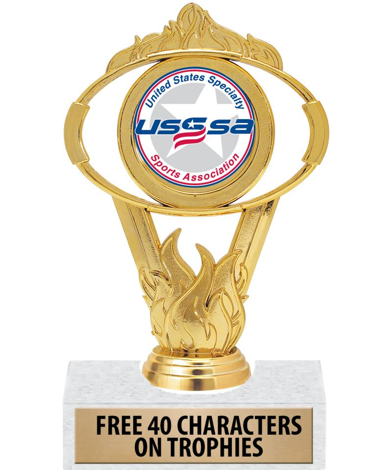 USSSA Gold Oval Insert Trophy