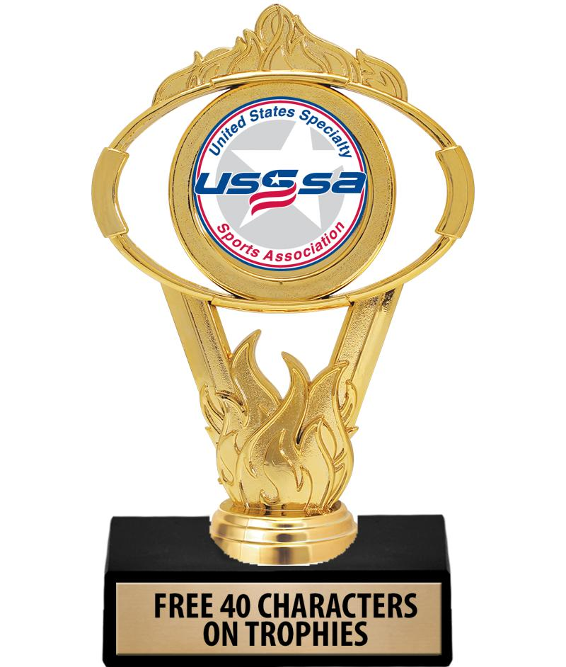 USSSA Gold Oval Insert Trophy