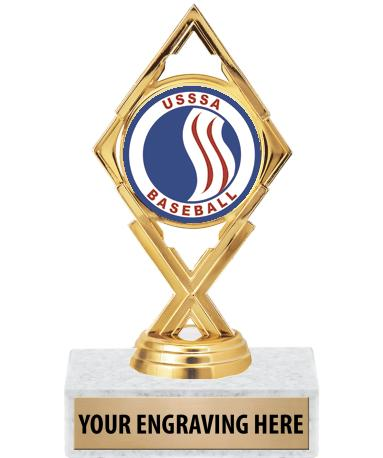 "USSSA 5 3/4"" Royale Diamond Trophy"