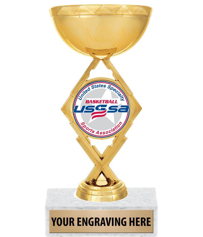 "USSSA 7 1/4"" Royale Diamond Cup Trophy"