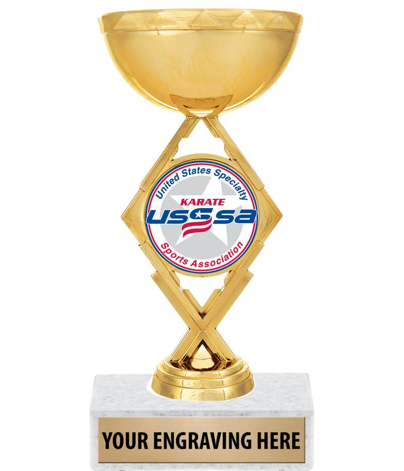 "USSSA 7 1/4"" Royale Diamond Cup Trophy"