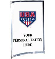 USA Softball Vertical Curva Acrylics
