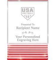 USA Softball Red Rockwell Acrylics