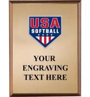 USA Softball Wood Graphix Plaques