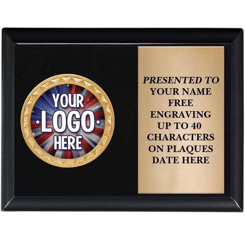 Black Shiny Horizontal Insert Plaque
