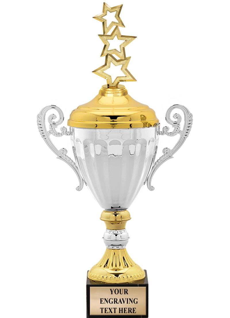 Accolade METAL Cup Trophies With Figurine