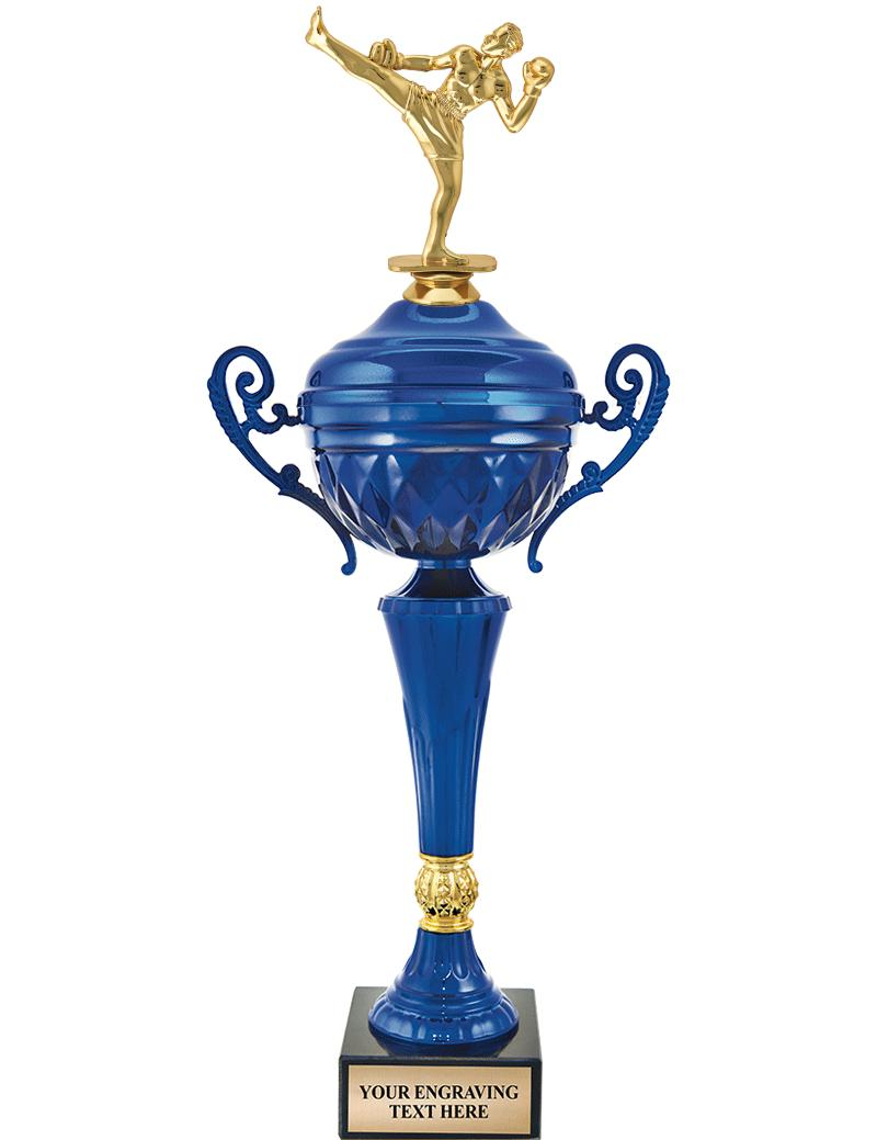 """16 1/2"""" BLUE METAL CUP W/FIG"""