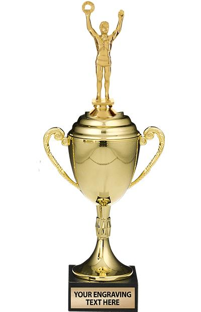 """13"""" GOLD CUP W/BLK MRBL BS-FIG"""