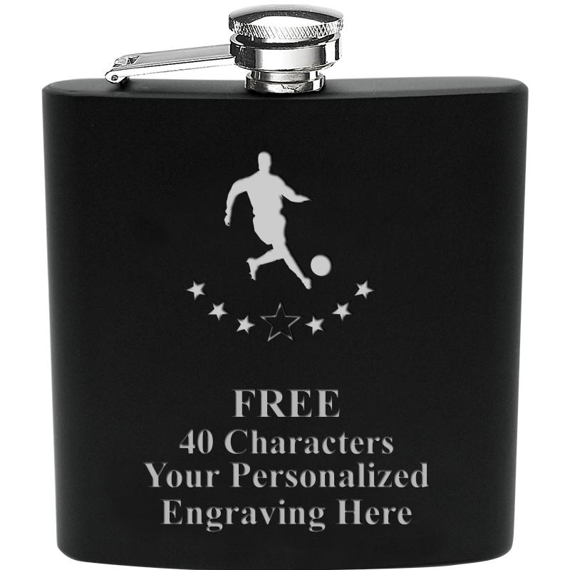 6OZ BLCK STAINLESS STEEL FLASK