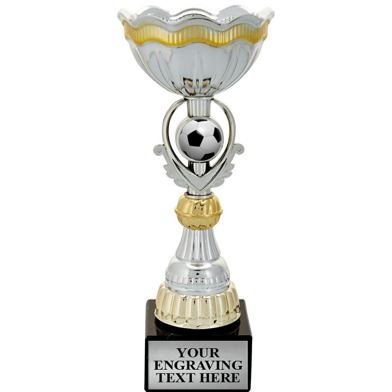 """12 1/4"""" GOLD INSERT CUP TROPHY"""
