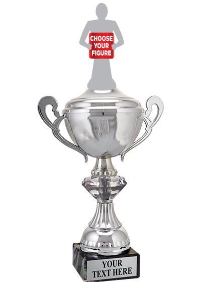 "12"" SLV CRYSTALLINE CUP W/FIG"