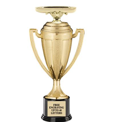 "13"" GOLD TROPHY CUP"
