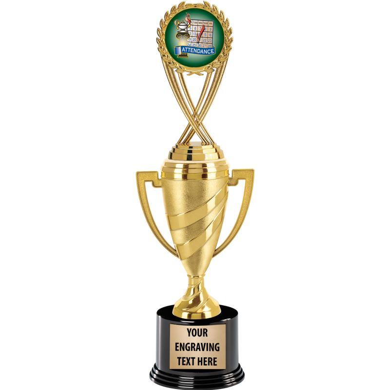 "13""SWIRL CUP W FIG ROUND BASE"