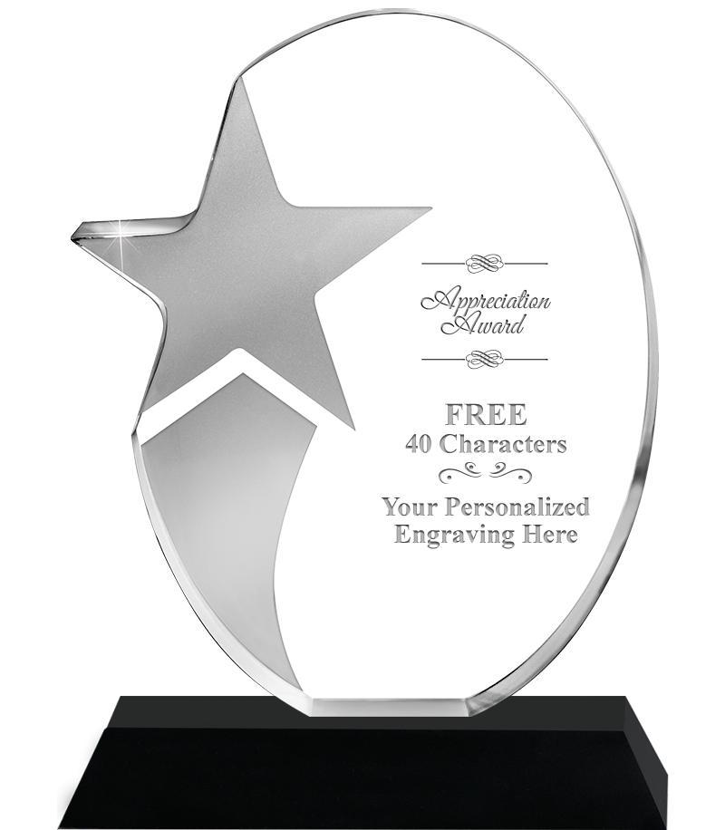 Shooting Star Acrylic Awards