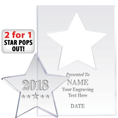 """7"""" STAR PAPERWGHT POP OUT ACR"""