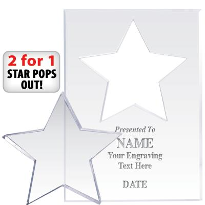 "7"" STAR PAPERWGHT POP OUT ACR"