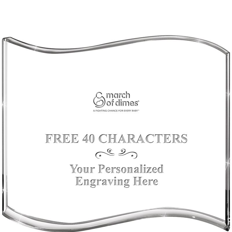 "5"" HANG TEN WAVE ACRYLIC HZTL"