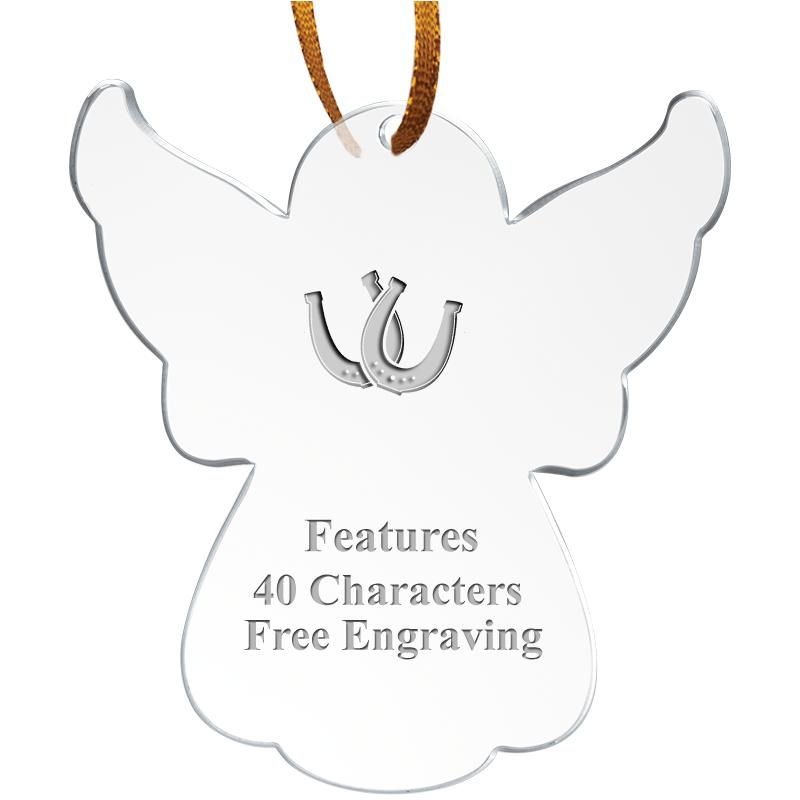 """3.5"""" ANGEL ACRYLIC ETCHED ORN"""