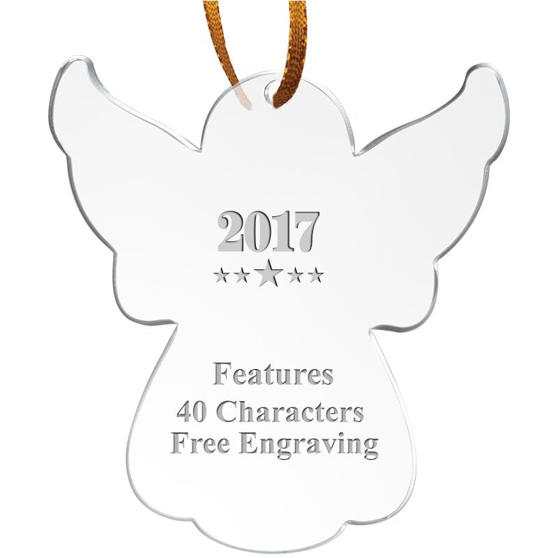 "3 1/2"" Angel Acrylic Ornament"