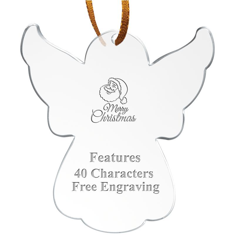 "3.5"" ANGEL ACRYLIC ETCHED ORN"